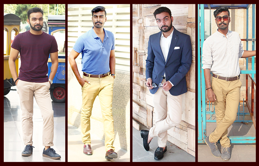 how to dress tan chinos